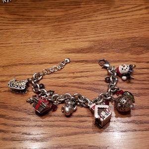 Brighton Silver Christmas Charm Bracelet